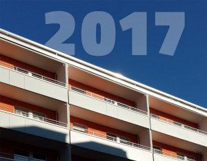 Jahreszahl 2017 über Fassade
