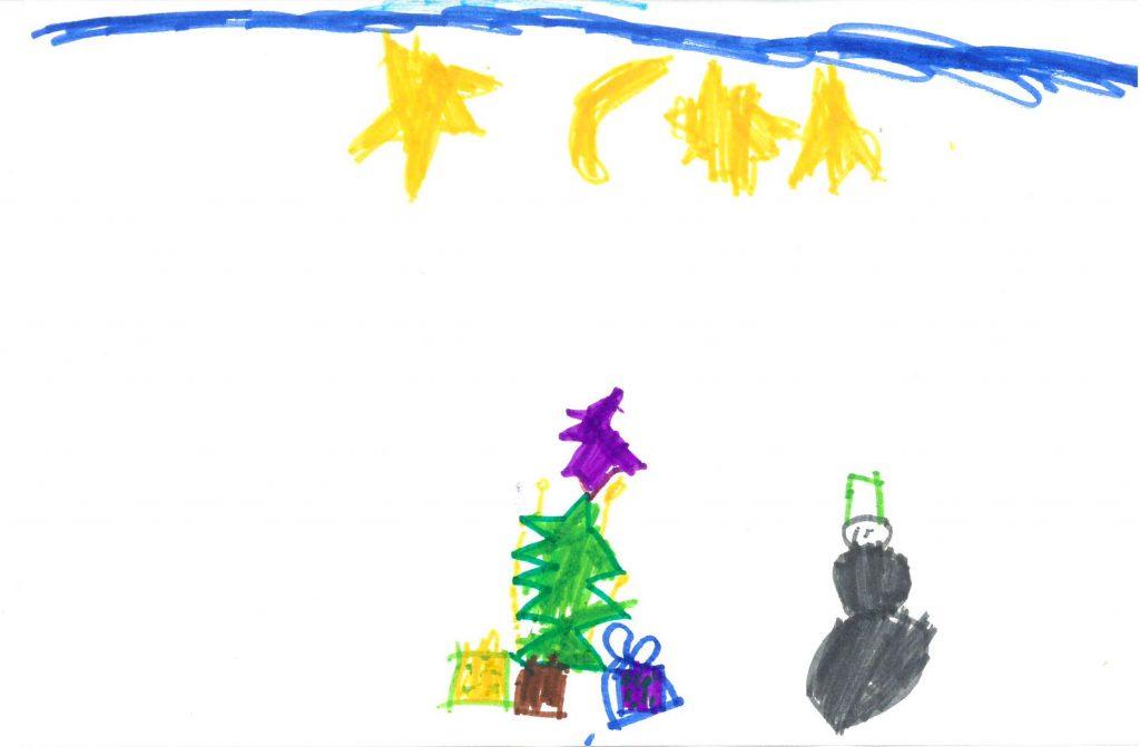 Weihnachtsbild von Nils (6 Jahre)