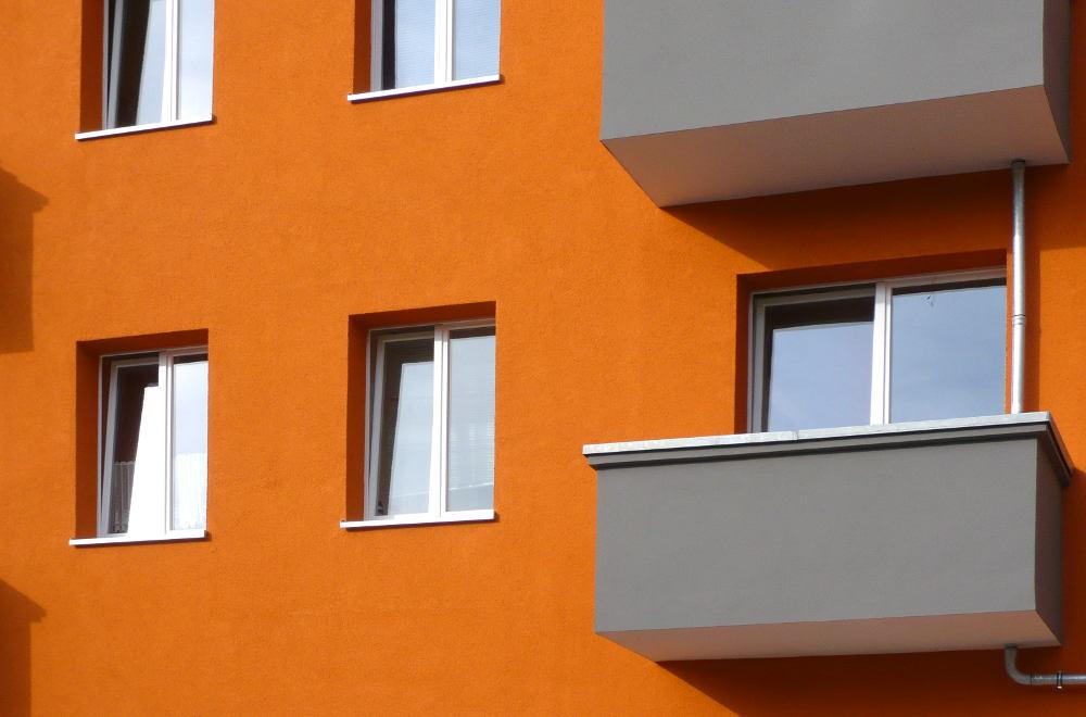 Fassade Orange Weidenweg 73