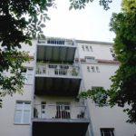 Koppenstraße 26, Hoffassade mit Balkonen