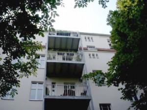 Balkone an der Hoffassade des Hauses Koppenstraße 26