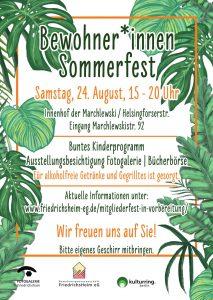Bewohner*innen Sommerfest am Sa., 24. August 2019