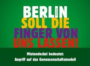 """""""Berlin soll die Finder von uns lassen! - Mietendeckel bedeutet: Angriff auf das Genossenschaftsmodell"""