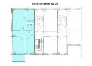 Grundriss Marchlewskistraße 106, OG links