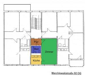 Grundriss Marchlewskistraße 92, OG Mitte