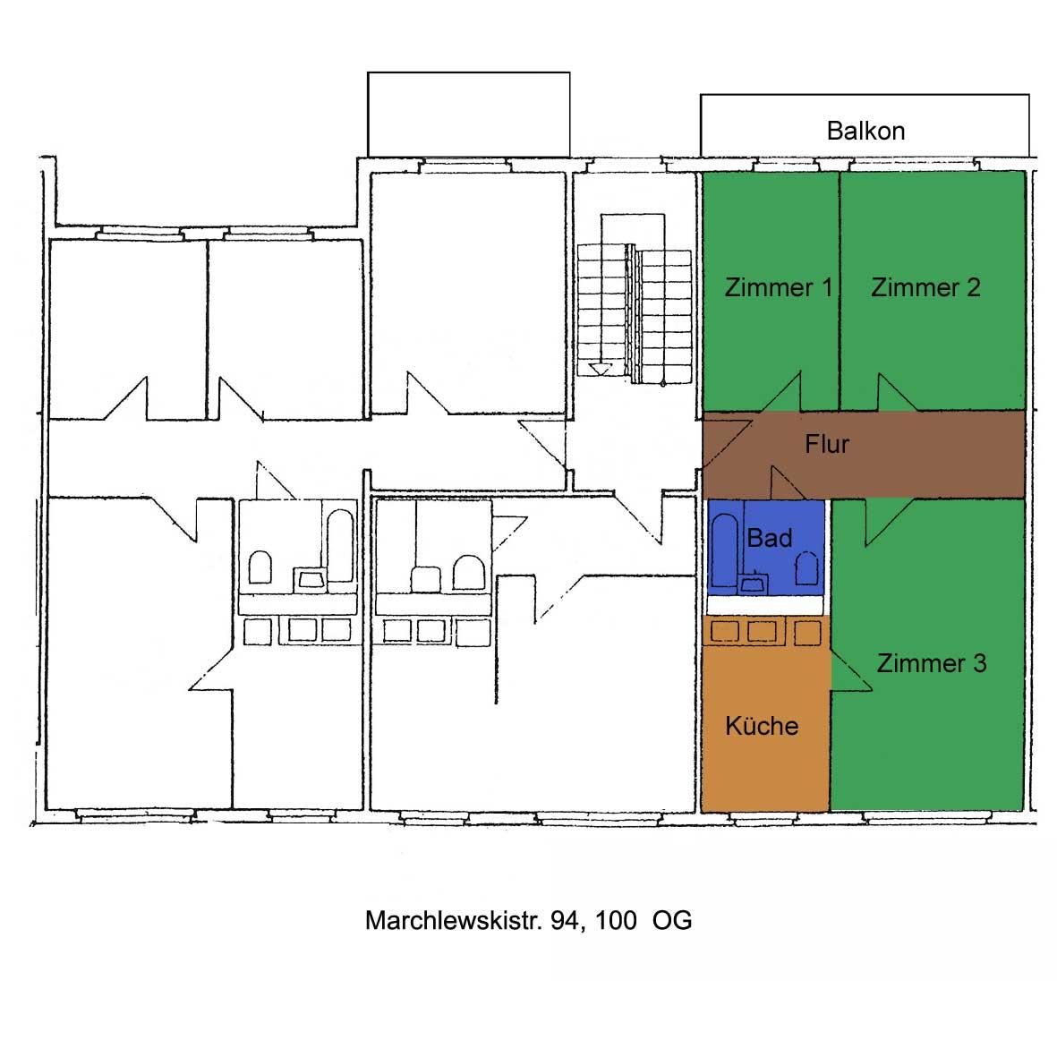 Grundriss Marchlewskistraße 94, 100, OG links