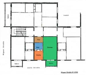 Grundriss Rigaer Straße 91, Mitte rechts