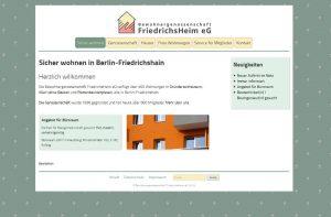 Bildschirmfoto der neuen Startseite im Internet