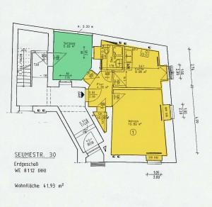 Grundriss Seumestr. 30, SF, EG rechts